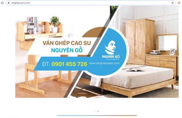 Website https://vanghepcaosu.com/ có giao diện thân thiện với khách hàng.